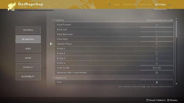 Destiny 2 - PC Controls | Tips | Prima Games