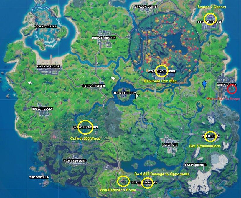 Fortnite Season 10 Week 3 Fortnite Season 4 Week 3 Challenge List Tips Prima Games