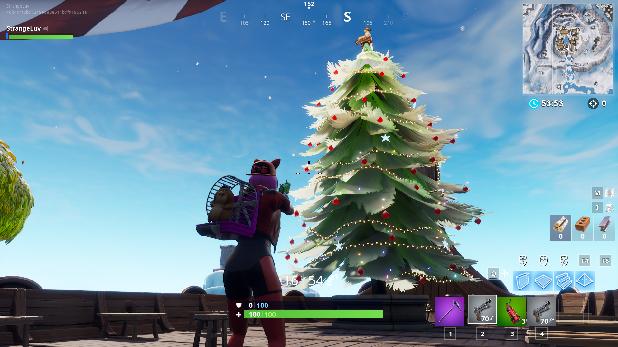Fortnite Christmas.Fortnite Holiday Trees All Christmas Tree Locations Tips