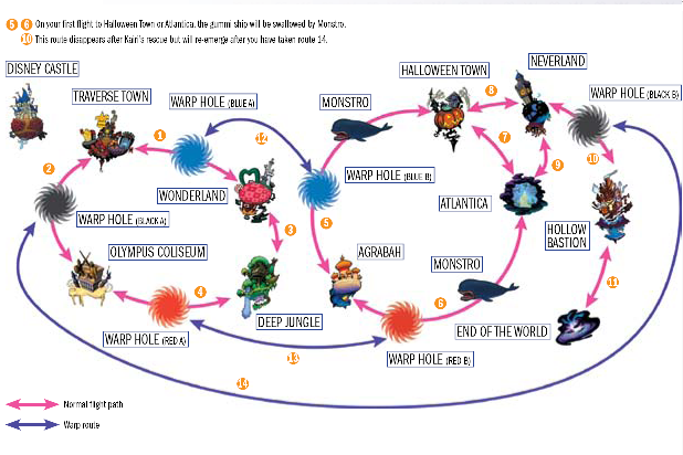 Kingdom Hearts 1.5 World Map | World Map