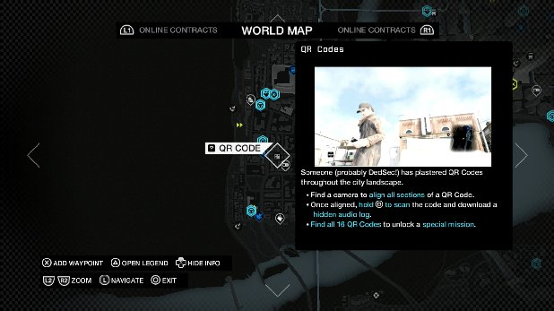 Watch Dogs - All 16 QR Code Locations, Hidden Messages, Read