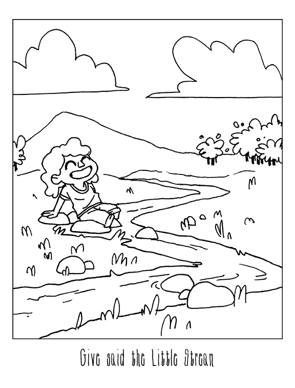 Stream Pages Coloring Pages