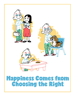 POSTER Happiness Comes from Choosing the Right CTR A Lesson 01