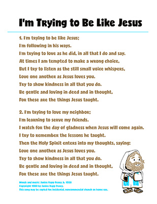 CTR-A-2018 Lesson 2-Im Trying to Be Like Jesus-Song