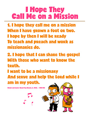 CTR-A-2018 Lesson 11-I Hope They Call Me On a Mission Song