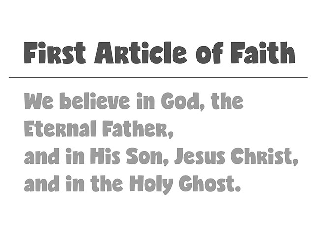CTR-A-2018 Lesson 13-First Article of Faith-BW