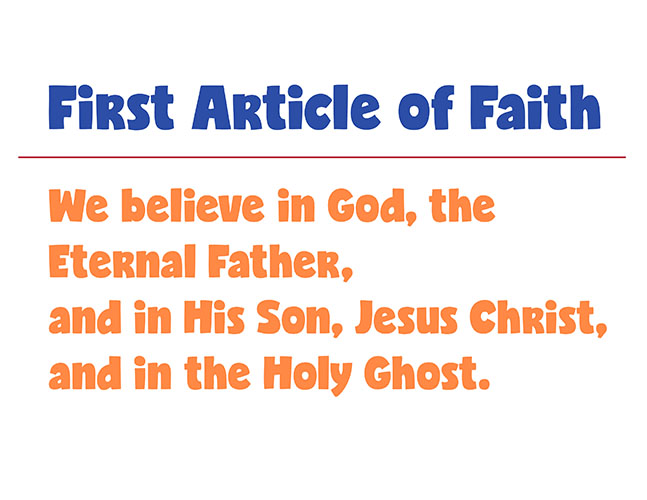 CTR-A-2018 Lesson 13-First Article of Faith
