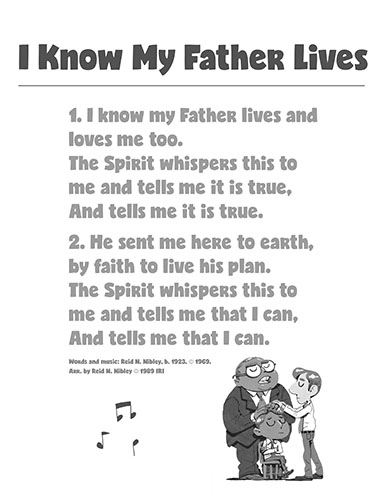 CTR-A-2018 Lesson 13-I Know My Father Lives Song BW