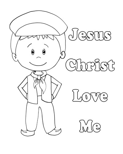 Lesson 30 Jesus Christ Loves Each of Us Primary 3 2017 Little boy coloring page