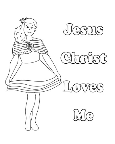 Lesson 30 Jesus Christ Loves Each of Us Primary 3 2017 little girl coloring page
