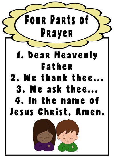 Primary 3 Lesson 34 We Can Pray to Heavenly Father 2017 four parts of prayer