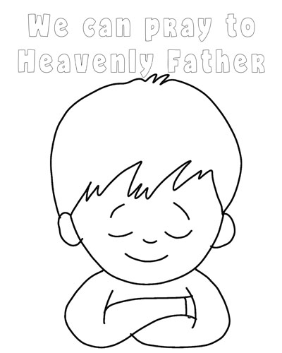 boy praying coloring page - primary latterdayvillage