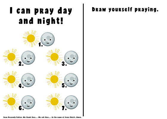 Primary 3 Lesson 34 We Can Pray to Heavenly Father 2017 prayer chart