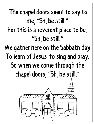coloring page chapel doors