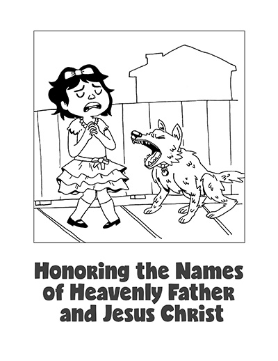 COLORING PAGE POSTER Honor Lords Name CTR Lesson 43