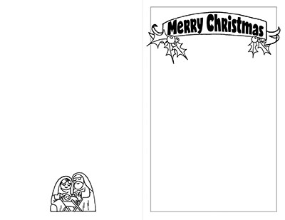 Black and White Christmas Card CTR Lesson 47