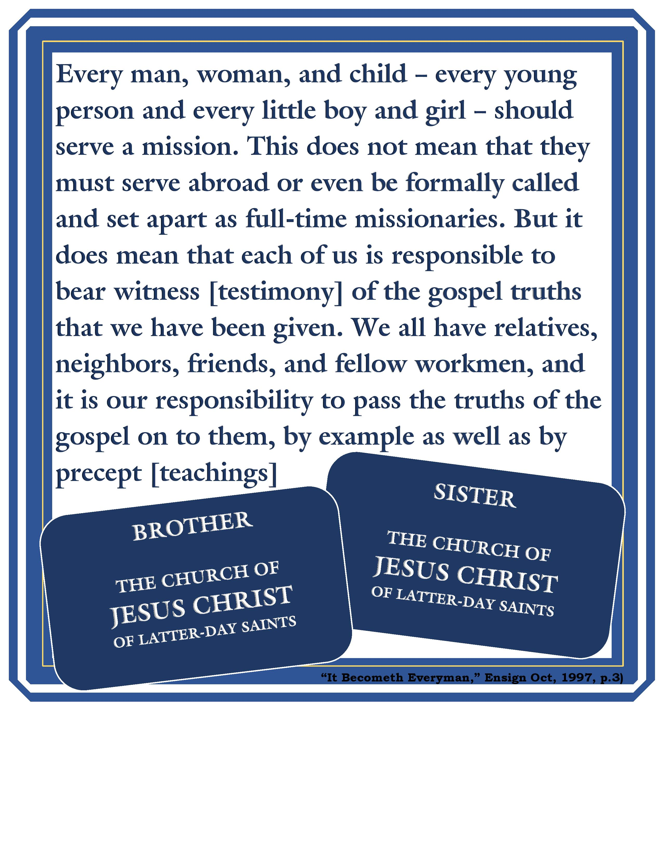 Primary 5 Lesson 29 - Missionaries Go to Other Nations