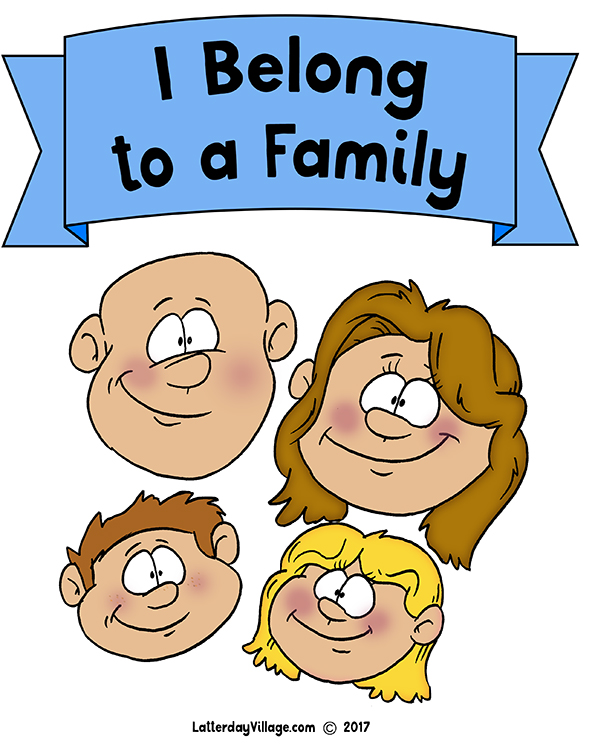 Sunbeam Lesson 23: I Belong to a Family - Poster
