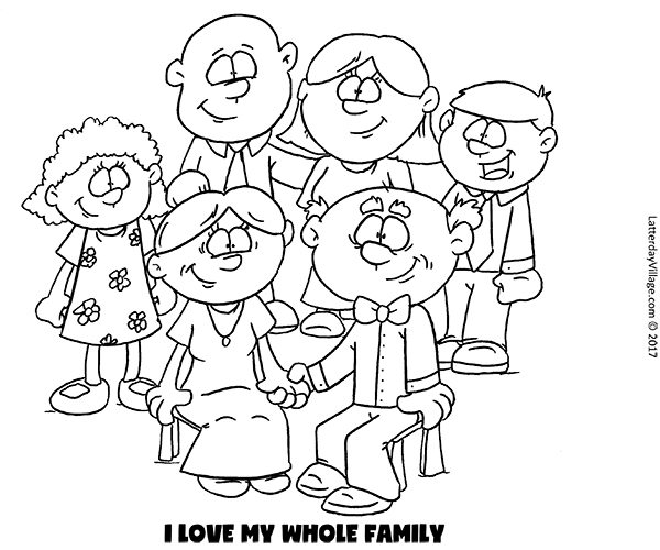 I Love My Whole Family Coloring