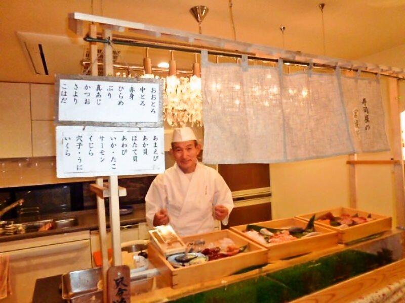 上寿司盛合わせと天ぷら盛り合わせ