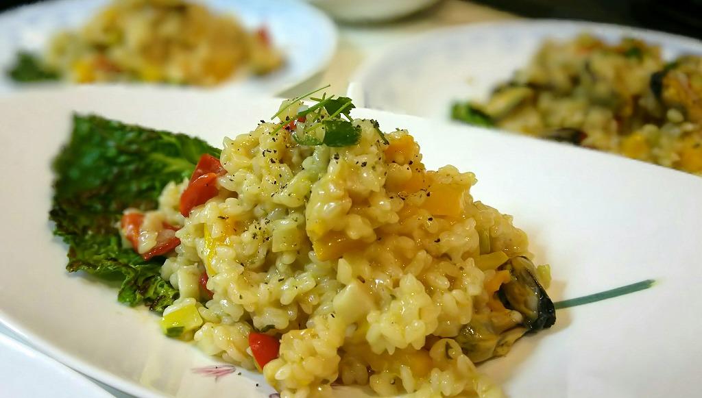 ムール貝と季節野菜のリゾット