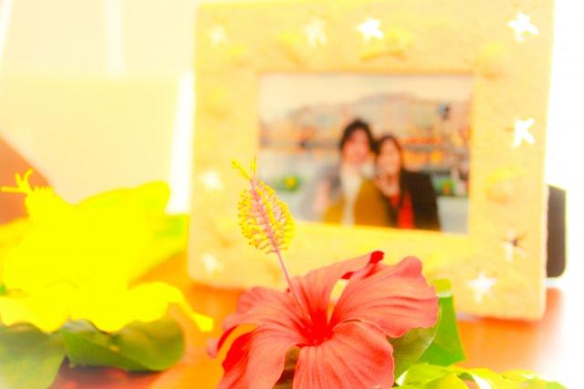 夫婦の記念写真