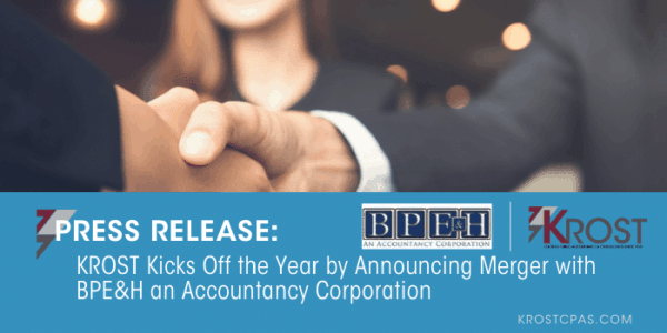 Krost Kicks Off The Year By Announcing Merger With Bpeh An Accountancy Corporation