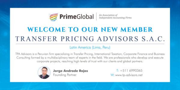 Transfer Pricing Advisors 09 19