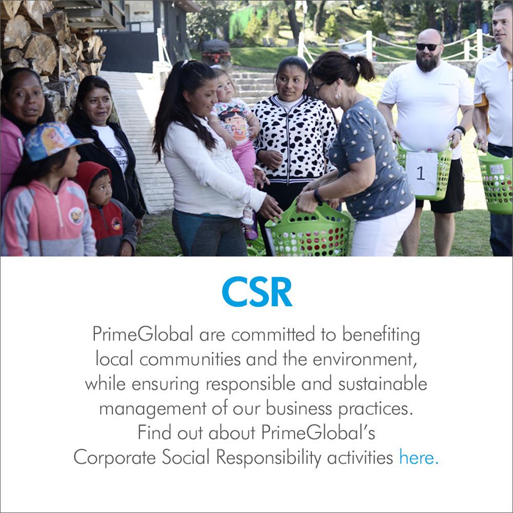 PrimeGlobal CSR Activities