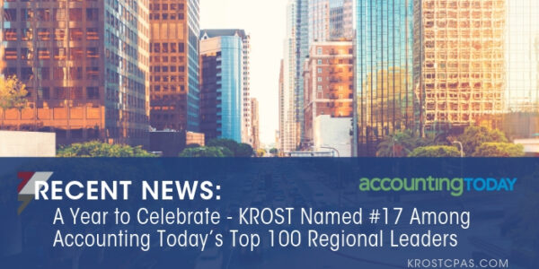 Krost Named 17 Among Accounting Today'S Top 100 Regional Leaders