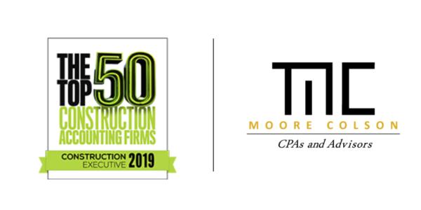 Moore Colson Cpas Advisors Ranked Top 50 Us Construction Accounting Firm Atlanta 2