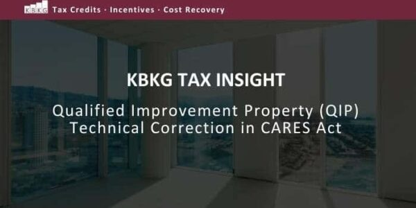 Qualified Improvement Property Qip Technical Correction In Cares Act