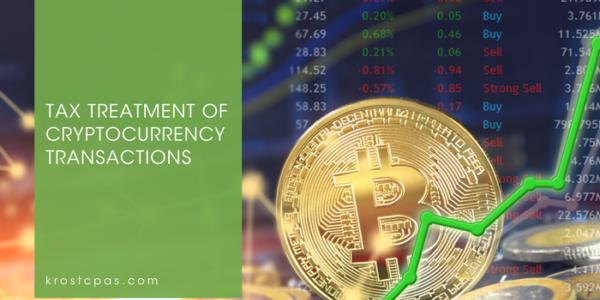 Tax Treatment Cryptocurrency Transactions Krost