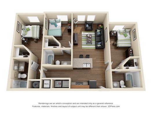 Oklahoma State University Apartments 3 Bed 3 Bath