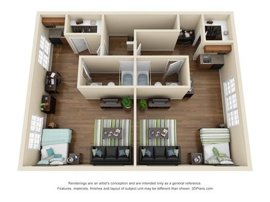 Kansas state university apartments xl studio claflin for One bedroom apartments manhattan ks