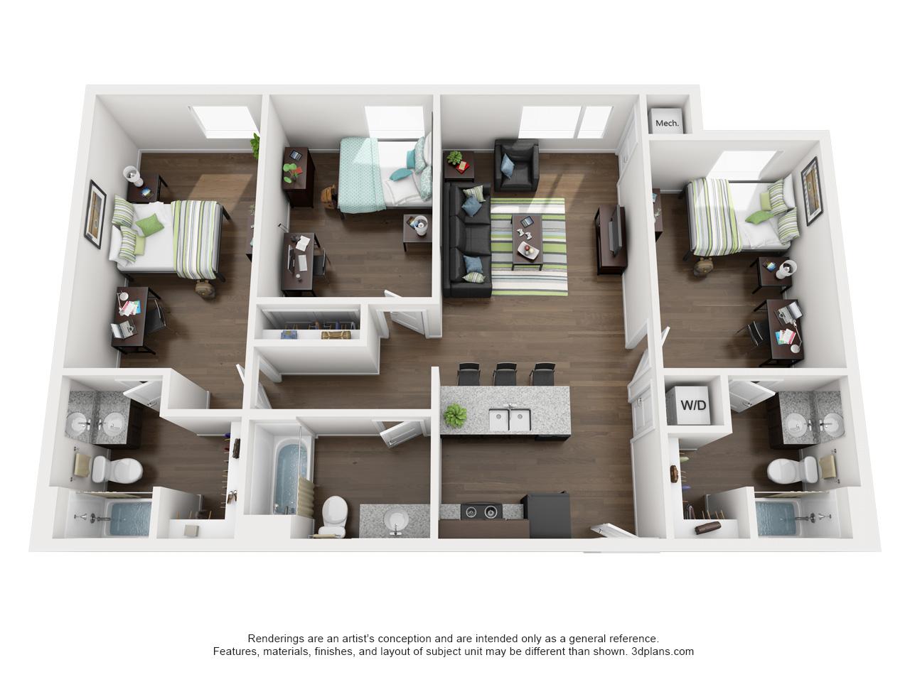 Lovely 213_elm_3xl. 3 Bedroom ...