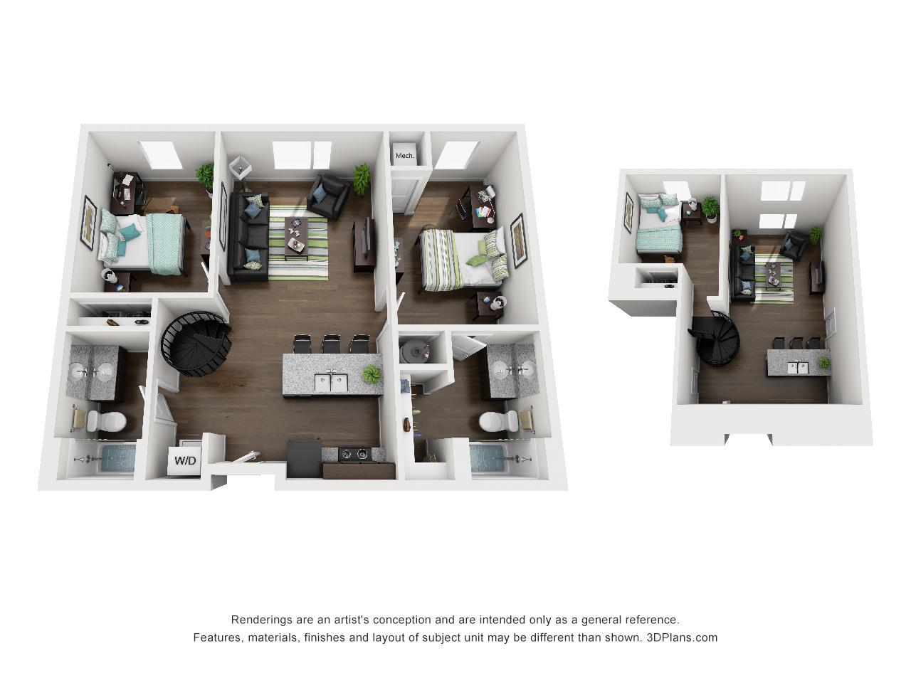 University Of Minnesota Apartments 3 Bed 2 Bath Loft