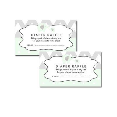 Baby-Shower-Mint-Green-Chevron-Gray-Elephant-Diaper-Raffle