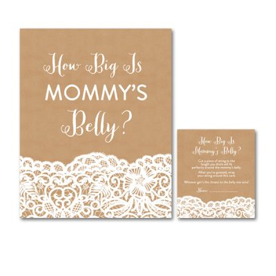 Baby-Shower-Kraft-Lace-Mommys-Belly
