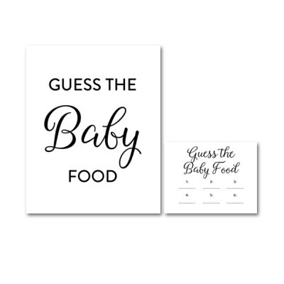 Guess The Mess And Baby Food Free Printable