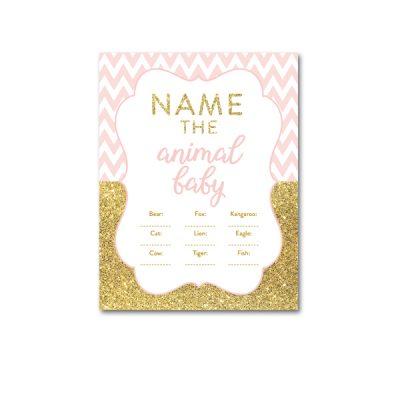 Baby-Shower-Printable-Pink-Gold-Chevron-Name-Animal-Baby