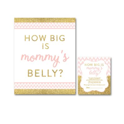 Baby-Shower-Printable-Pink-Gold-Chevron-Mommys-Belly