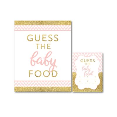 Baby-Shower-Printable-Pink-Gold-Chevron-Guess-Baby-Food