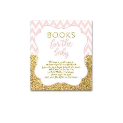 Baby-Shower-Printable-Pink-Gold-Chevron-Books-For-Baby