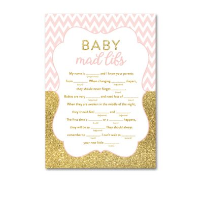 Baby-Shower-Printable-Pink-Gold-Chevron-Baby-Mad-Libs