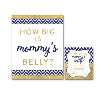 Baby-Shower-Printable-Navy-Gold-Mommys-Belly