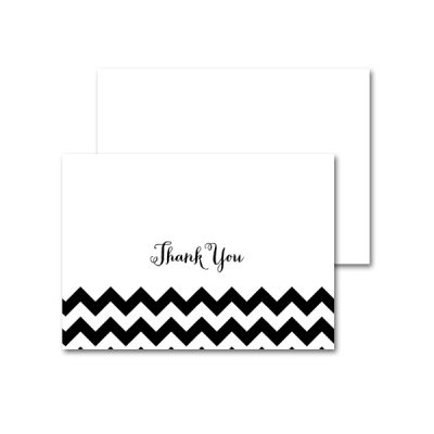 Baby-Shower-Black-White-Chevron-Thank-You-Card