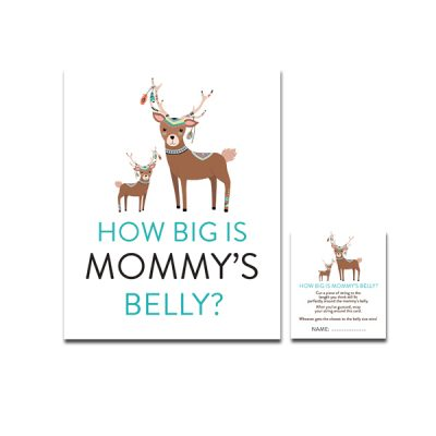 Baby-Shower-Tribal-Deer-How-Big-Is-Mommys-Belly