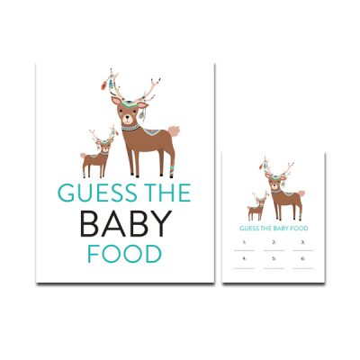 Baby-Shower-Tribal-Deer-Guess-Baby-Food