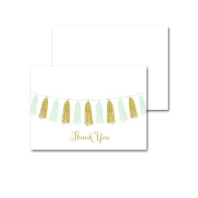 Baby-Shower-Printable-Mint-Gold-Tassel-Thank-You-Card